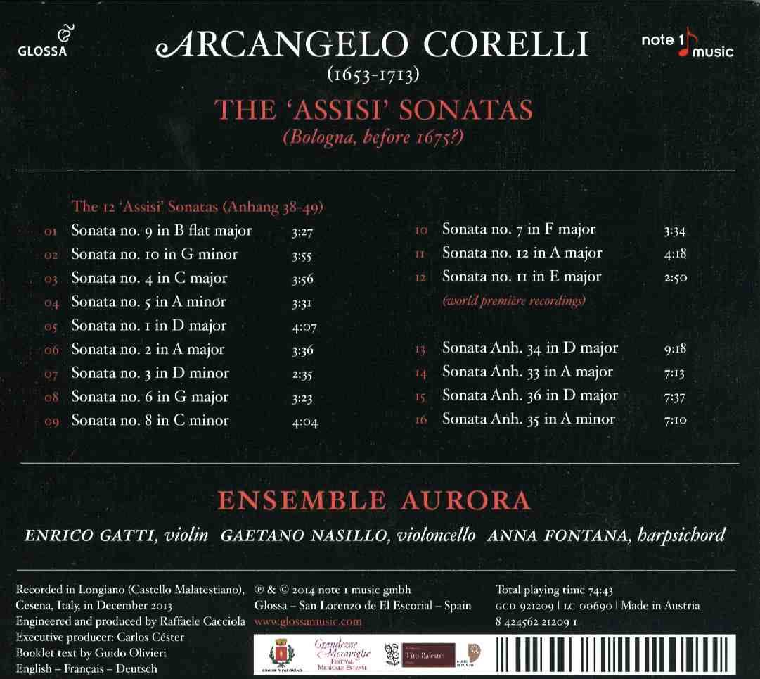 Corelli- The assisi sonatas 2